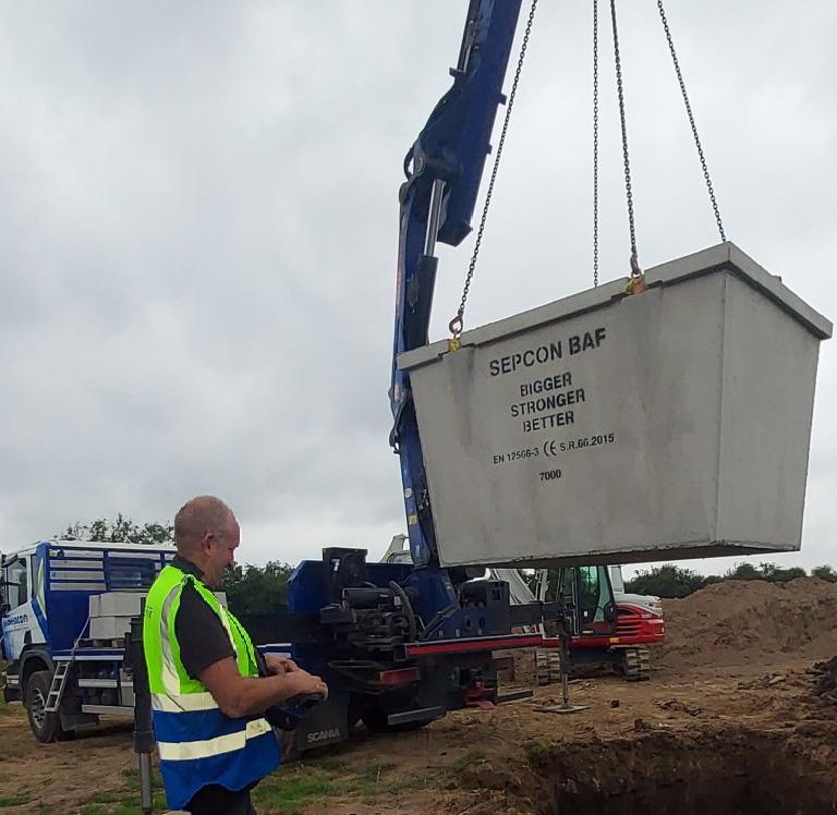 baf sewage system install2
